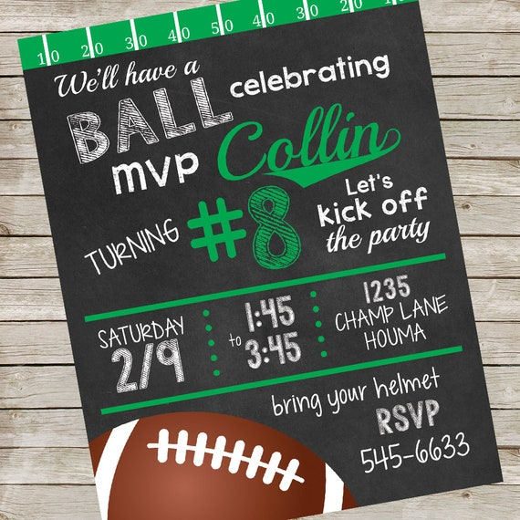 photo relating to Printable Football Field titled Soccer Birthday Occasion Invitation PIY report ~ Printable