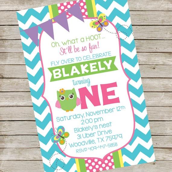 Owl Birthday Party Invitation PIY File Any Color Printable Owls Digital Invite