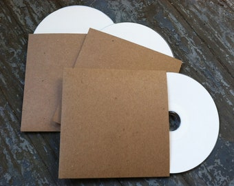 100 Blank CD Sleeves/Cases/Packaging-For Bands/Photographers/Wedding Favors
