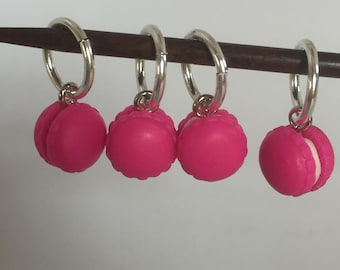 4 stitch markers for knitting crochet BADGE 12 mm rings