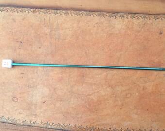 CROCHET TUNISIAN CROCHET KNIT GREEN ALUMINUM 4MM
