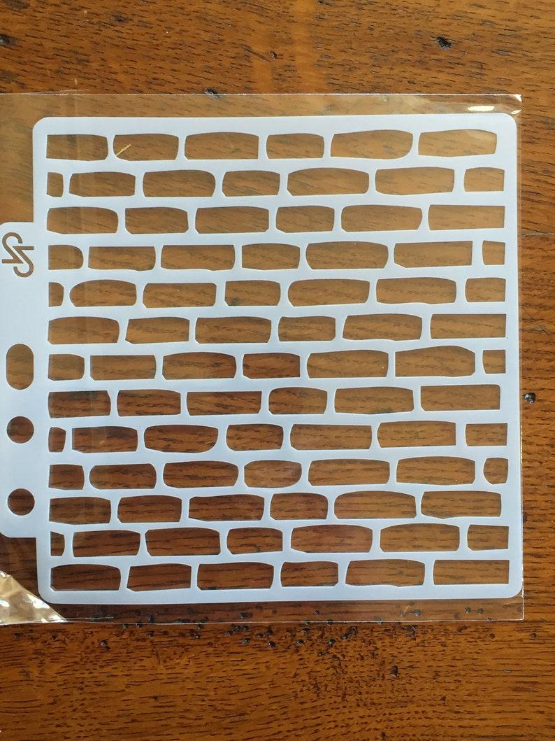 Poesia Brique De Verre pochoir façon facade mur de briques plastique 12,7 x12,7 cm