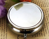 2pcs 45mm Blank Pill Box Pill Case Ring Box or Pick Box DIY Pill Box Steampunk Cameo 3 compartments 200-007