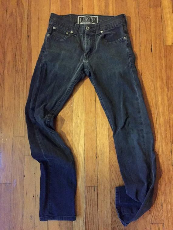 1990s Vintage Black 511 Levis