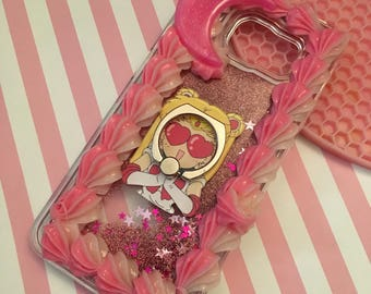 Decoden Glitter Waterfall Sailor Moon Grip Ring Case for Samsung Galaxy S6