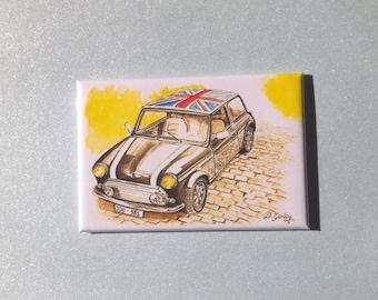 Original Fridge Magnet Of a Classic Black Mini