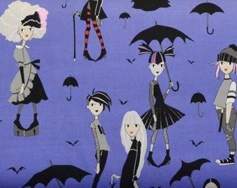 Going Goth, Purple 8736A, Alexander Henry Fabric, Haunted House Collection, By The Yard