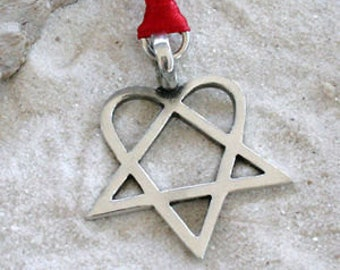 Heartagram HIM Christmas Ornament Pewter and Holiday Decoration (317)