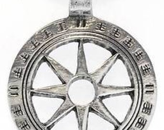 Pewter Wheel of Life Tibetan Buddha Yoga Namaste Meditation Pendant (31I)