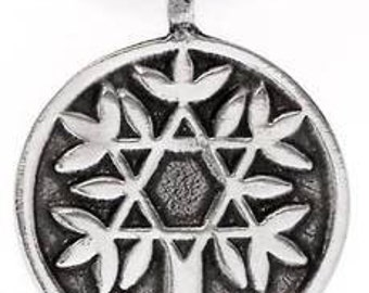 Pewter Tree of Life with Star of David Pendant (48D)