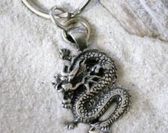 Pewter Chinese Dragon China Keychain Key Ring (25E)