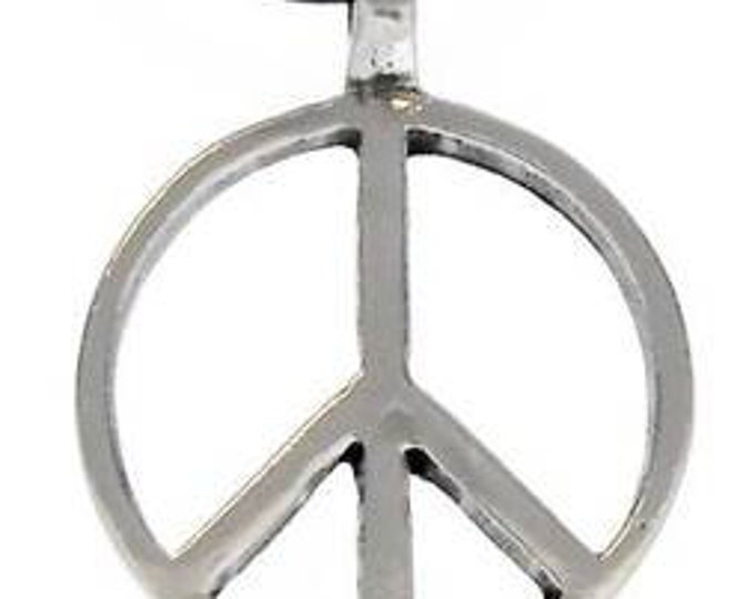 Featured listing image: Pewter Peace Sign Love Hippie Yoga Namaste Meditation Pendant (57G)