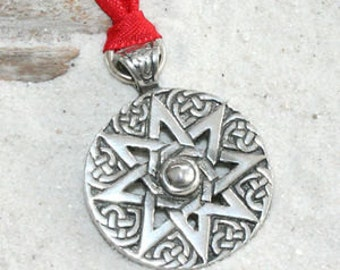 Pewter Octagram Wheel of Life Tibetan Buddha Yoga Meditation Christmas Ornament and Holiday Decoration (57E)
