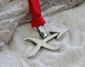 "Pewter Sagittarius ""The Archer"" Zodiac Astrology Sun Sign of November December Christmas Ornament and Holiday Decoration (28E)"