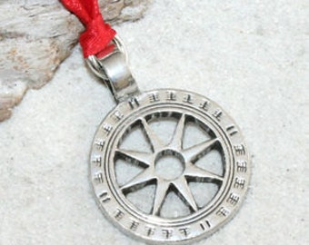 Pewter Wheel of Life Tibetan Buddha Yoga Namaste Meditation Christmas Ornament and Holiday Decoration (31I)