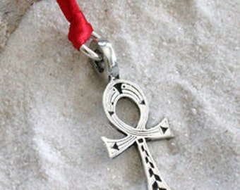 Pewter Ankh Egyptian Cross Egypt Hieroglyphic Christmas Ornament and Holiday Decoration (31A)