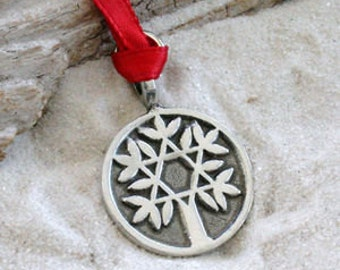Pewter Tree of Life with Star of David Christmas Ornament and Holiday Decoration (48D)