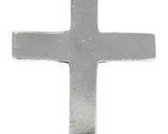 Pewter Cross Christian Shiny Silver Pendant (316)