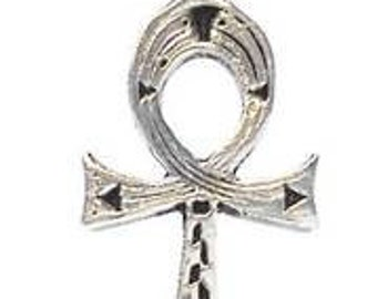 Pewter Ankh Egyptian Cross Egypt Hieroglyphic Pendant (31A)