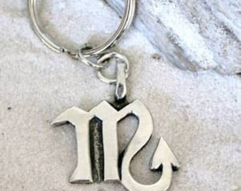"Pewter Scorpio ""The Scorpion"" Zodiac Astrology Sun Sign of October November Keychain Key Ring (28D)"