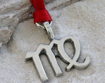 """Pewter Virgo """"The Virgin"""" Zodiac Astrology Sun Sign of August September Christmas Ornament and Holiday Decoration (28B)"""