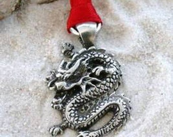 Pewter Chinese Dragon China Christmas Ornament and Holiday Decoration (25E)