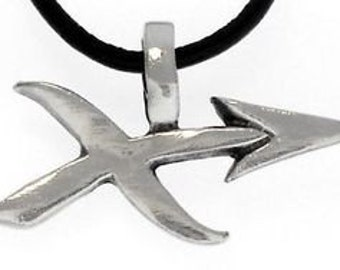 "Pewter Sagittarius ""The Archer"" Zodiac Astrology Sun Sign of November December Pendant (28E)"