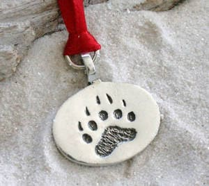 pewter bear claw paw lgbt gay pride christmas ornament and holiday decoration 21d - Gay Pride Christmas Decorations