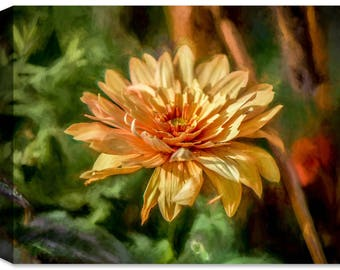 Garden Bloom - Ink On Fine Art Canvas - Indoor Art or Outdoor Art