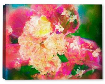 Hydrangea Dogwood Summer Fest - Fine Art Canvas Print - Indoor Art or Outdoor Art