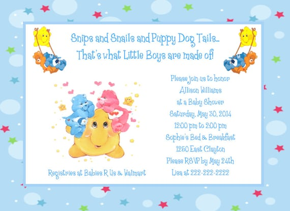 Care bears moon and stars baby shower invitations etsy image 0 filmwisefo