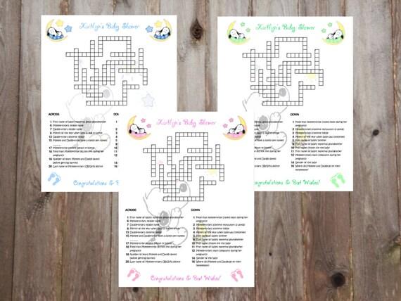 emballage fort la vente de chaussures meilleure vente Jeu de Puzzles mots croisés personnalisés bébé Snoopy lune & étoiles Baby  Shower