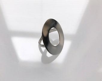 Sterling Circle Serenity Ring