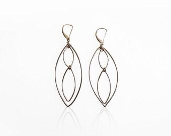 Sterling Marquise Dangle Earrings