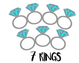 Seven Rings Lyrics Etsy