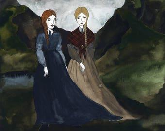 My Heart's in the Highlands Original Art Print
