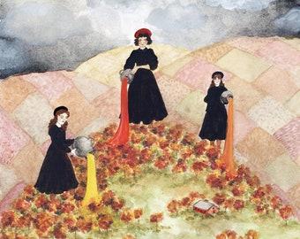 """Autumn Colors Original Watercolor Art Print - 8.5 x 11"""""""