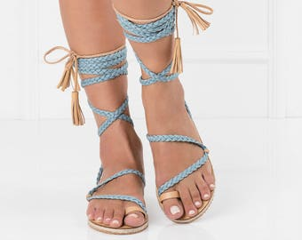 9195563f1246b Ankle wrap sandals