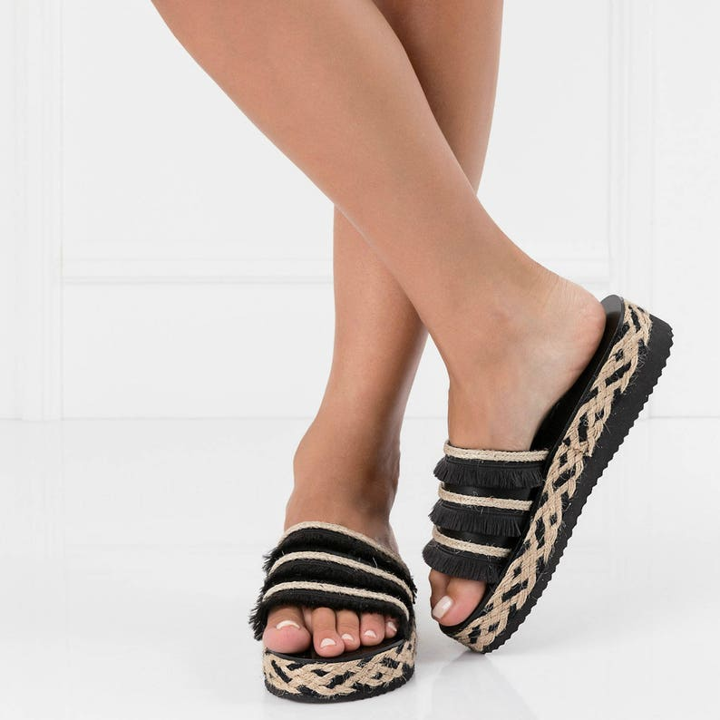 5208654f7c3 Boho women flatformsfringe sandalstrendy sandalsbohemian