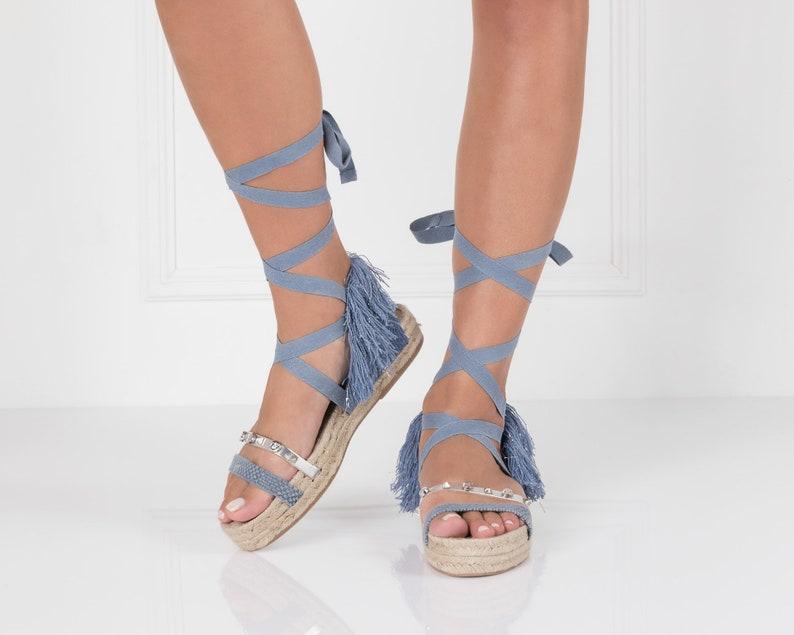 8ea1fd4610bb Espadrilles Shoes Bohemian Sandals Rope Sandals Boho Chic