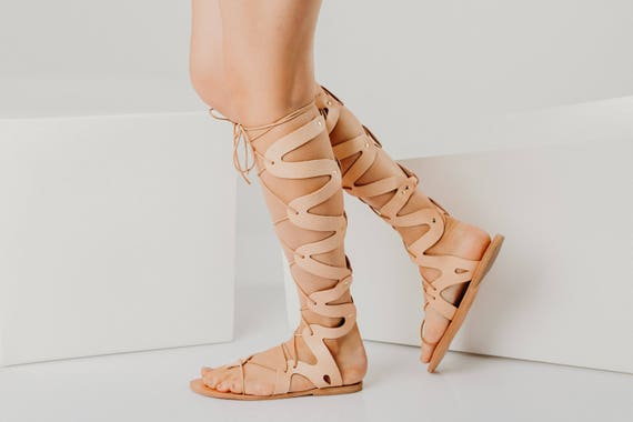 wrap up flat sandals,greek gladiator,lace women sandals,tie up gladiators,knee high sandals,greek lace up sandal,leather gladiators