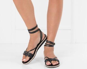Black Leather Sandals, Rubber Bottom Sandals, Womens Sandals, Black Womens Sandals, Sporty Sandals, Black Sporty Sandals, Summer Sandals