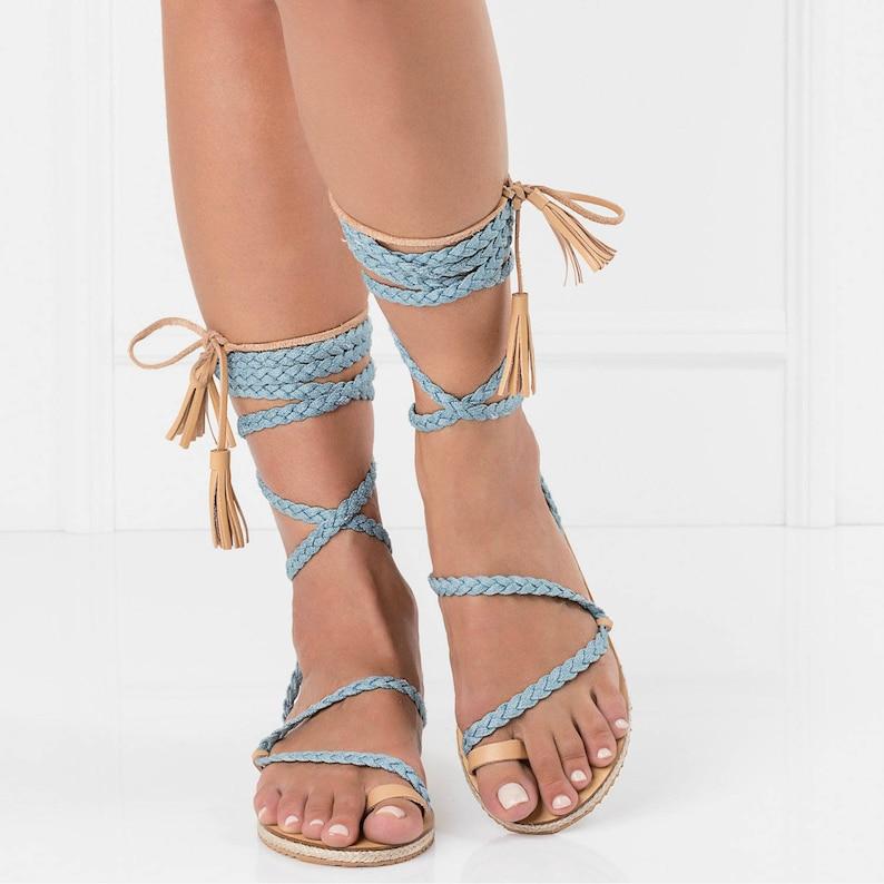 5d5a0959a4b7 Greek sandalsankle wrap sandalslace up gladiatorsleather