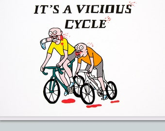 Just because cards etsy uk cycling bicycle bike cyclist funny greeting card funny birthday card funny card birthday card for him vicious cycle m4hsunfo