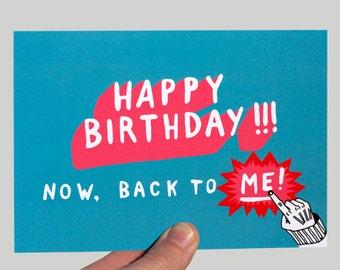 Funny Birthday Card Friend Boyfriend Girlfriend Humour Sarcastic Inappropriate