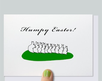Funny Easter Card, Naughty Bunnies, Easter Bunny, Naughty Card, Cheeky Card, Happy Easter, For Husband, For Wife -  HUMPY EASTER