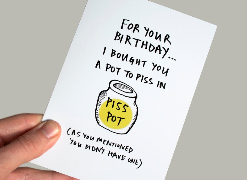 Funny Birthday Card Funny Greeting Card Sarcastic Birthday Etsy