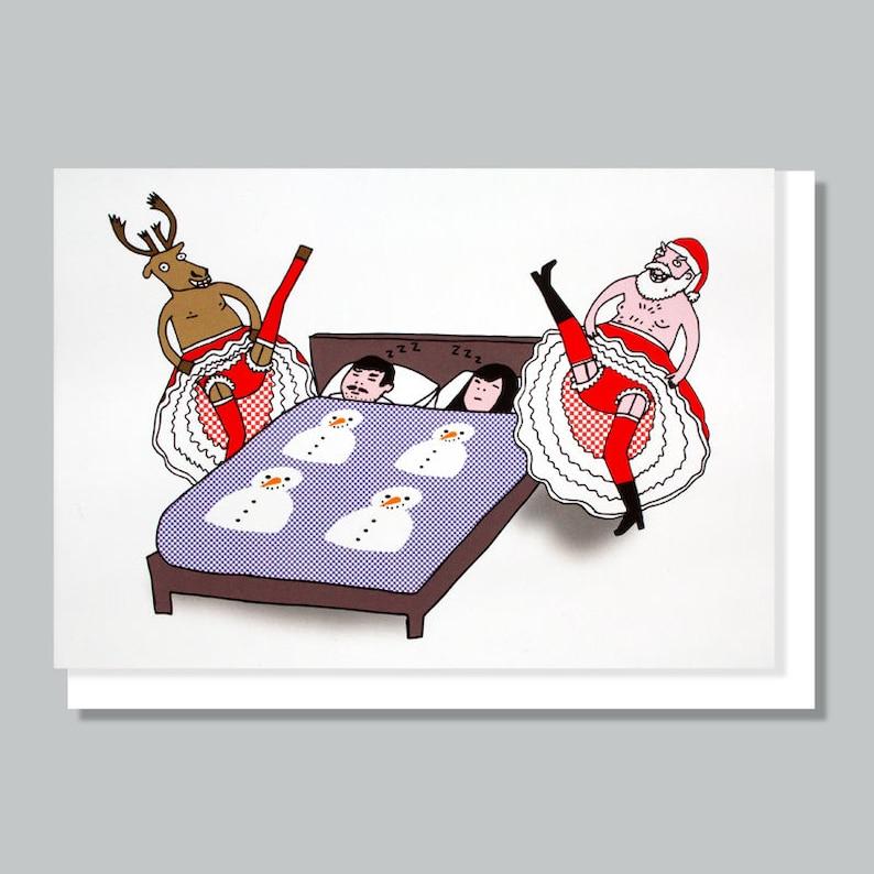 Biglietti Di Natale Divertenti.Cartoline Di Natale Divertenti Cartolina Di Natale Babbo Etsy