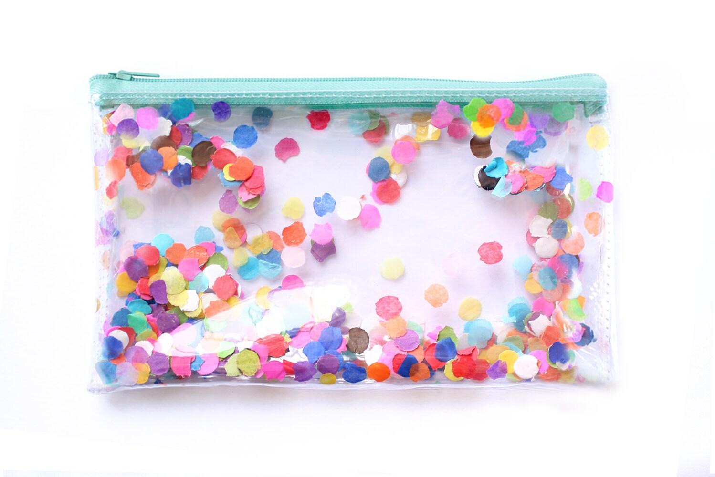 Konfetti Party / transparente Handtasche kleine Tasche klar | Etsy
