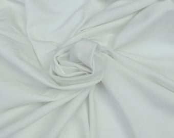 "Heavy Organic Cotton Spandex Jersey Knit Fabric By the Yard - Off White Dyeable 12/14 59""W"